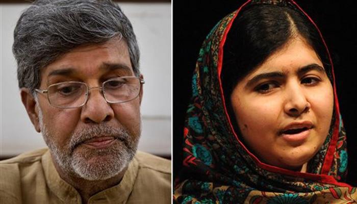 भारत के कैलाश सत्यार्थी और पाकिस्तान की मलाला को शांति का नोबेल पुरस्कार