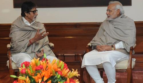 महानायक अमिताभ बच्चन ने प्रधानमंत्री मोदी से की मुलाकात