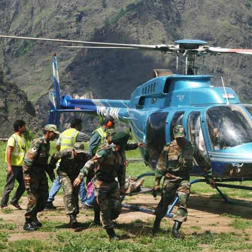 गोविंदघाट में रेस्क्यू ऑपरेशन शुरू: 100 श्रद्धालुओं को हेलिकॉप्टर के जरिए जोशीमठ पहुंचाया गया