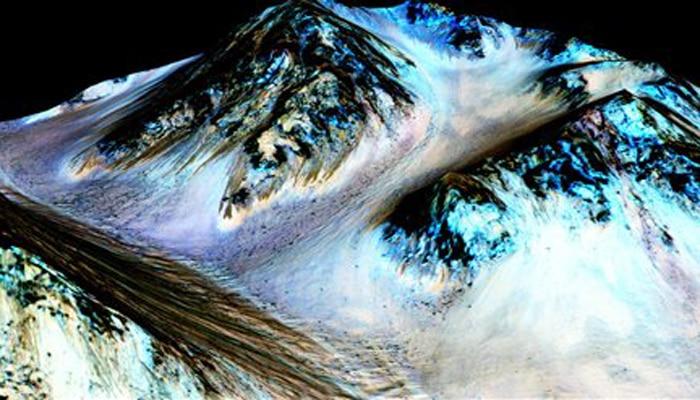 मंगल ग्रह पर बह रहा है पानी : नासा