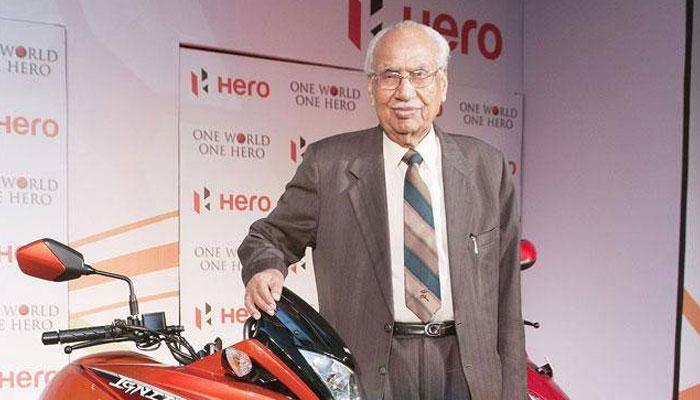 'हीरो' मोटोकॉर्प के संस्थापक मुंजाल का निधन