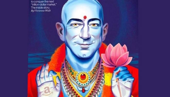 फॉर्चून ने अमेजन CEO को भगवान विष्णु के रूप में दिखाया, हिंदूओं ने किया विरोध