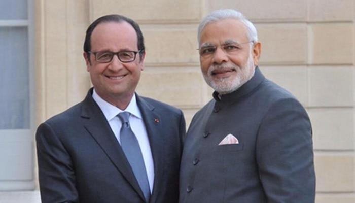 फ्रेंच राष्ट्रपति ओलांद को पीएम मोदी ने दी भावभीनी विदाई, बोले- 'खास है फ्रांस'