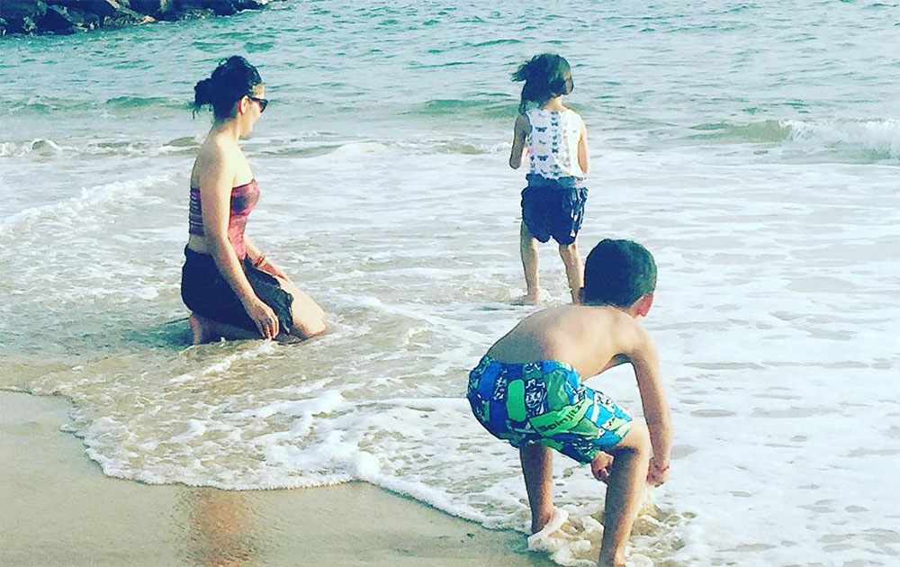 Manyata Dutt holidays in Srilanka with her kids