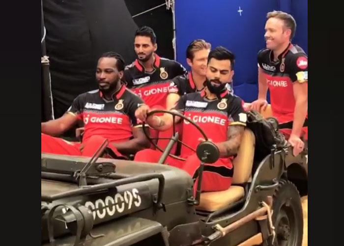 VIDEO: आरसीबी के चैलेंजर्स को जीप में बैठाकर सैर करवा रहे विराट