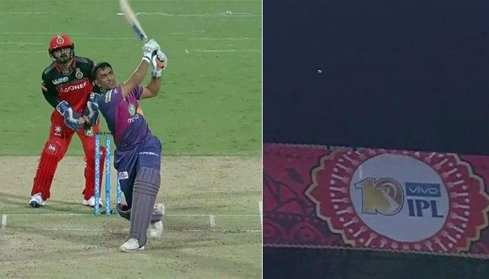 VIDEO : एमएस धोनी ने जड़ा IPL-10 का सबसे लंबा छक्का
