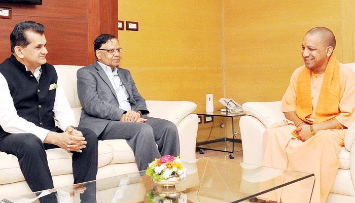 नीति आयोग और योगी सरकार मिलकर तैयार करेंगे उत्तर प्रदेश के विकास का रोडमैप