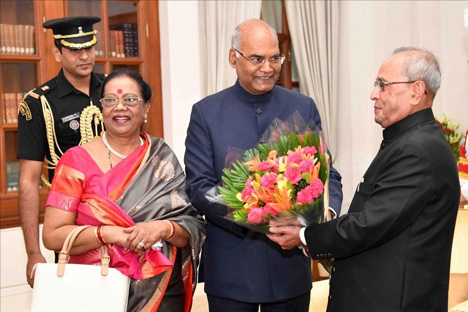 President-elect Ram Nath Kovind and his spouse Savita Kovind
