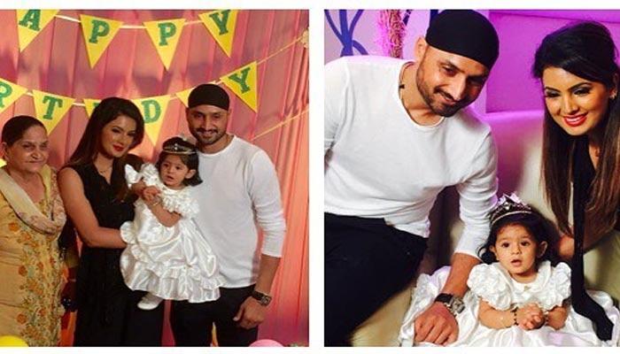 PICS: हरभजन सिंह और गीता बसरा ने मनाया अपनी बेटी हिनाया का पहला B'DAY