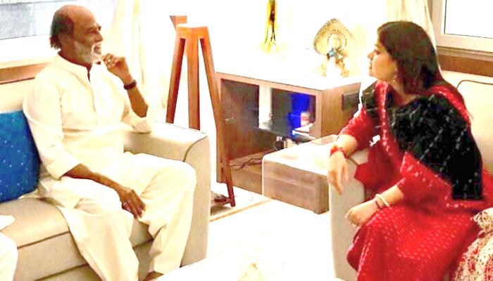 साउथ सुपरस्टार रजनीकांत से मिलीं BJP नेता पूनम महाजन, कयासों का बाज़ार गर्म!