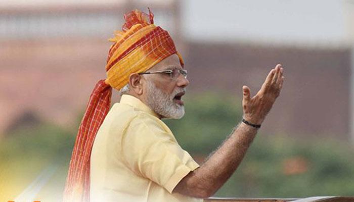 लालकिले की प्राचीर से बोले नरेंद्र मोदी, भारत सभी शत्रु ताकतों को हराने में सक्षम
