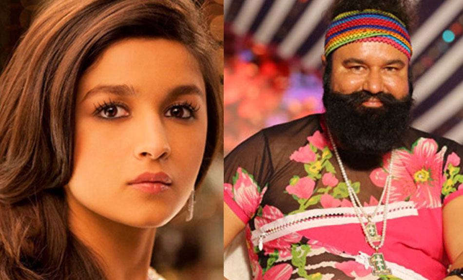 राम रहीम के कारण मुश्किल में फंसी आलिया भट्ट, रुकी फिल्म की शूटिंग