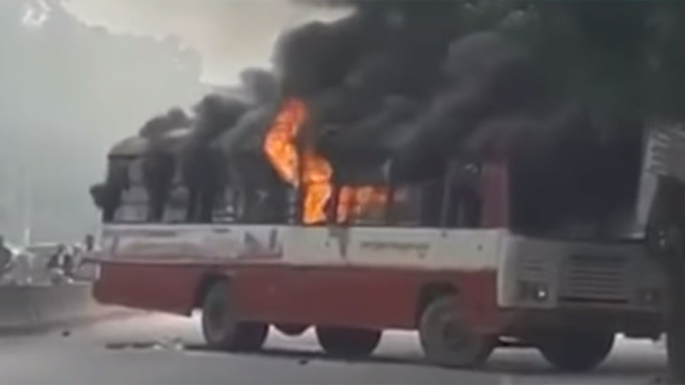 इलाहाबाद में बीएसपी नेता की गोली मारकर हत्या, समर्थकों ने की आगजनी