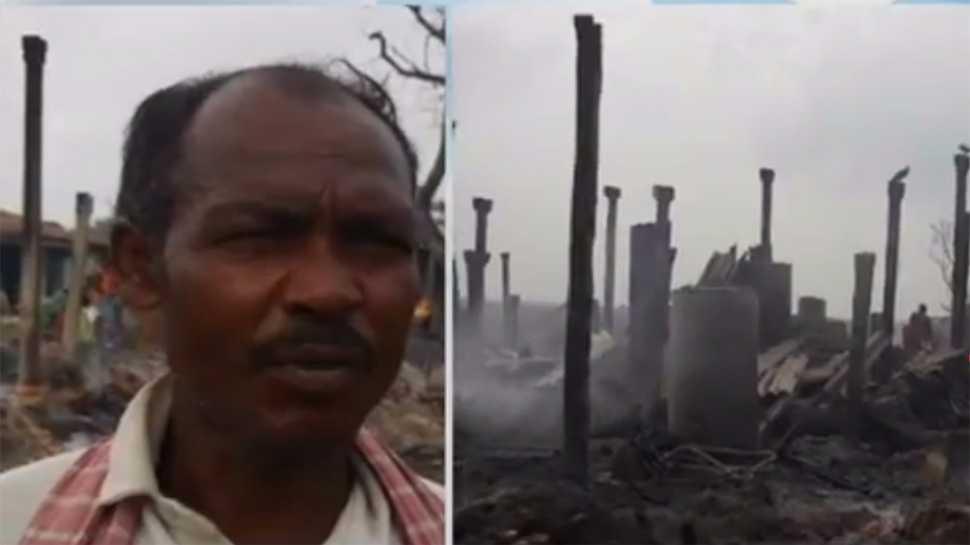 बिहारः खगड़िया में दबंगों ने महादलित समुदाय के 50 घर फूंके, कई मवेशी जले