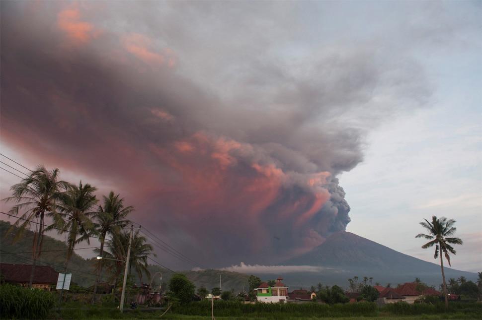 indonesia's Volcano Mount Agung Erupting, High Alert in Bali