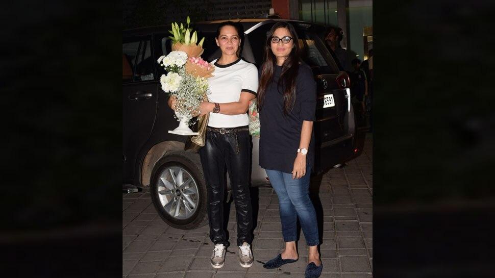 Malaika Arora spot in EX mother in law Salma Khan birthday party