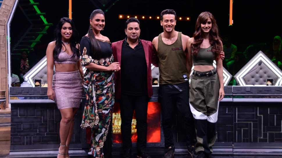 Tiger Shroff Disha Patani on the sets of High Fever Dance Ka Naya Tevar