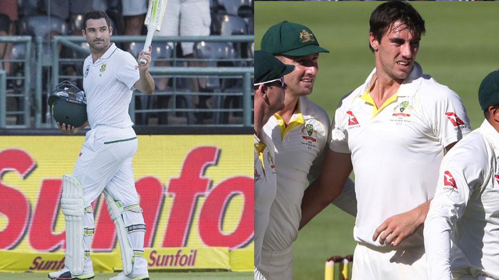 केपटाउन टेस्ट में एल्गर का शतक, कमिंस ने कराई ऑस्ट्रेलिया को वापसी