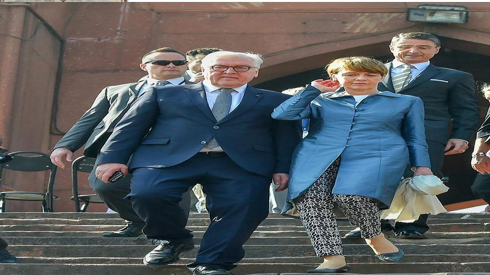 German President Frank-Walter Steinmeier and his wife visit jama masjid