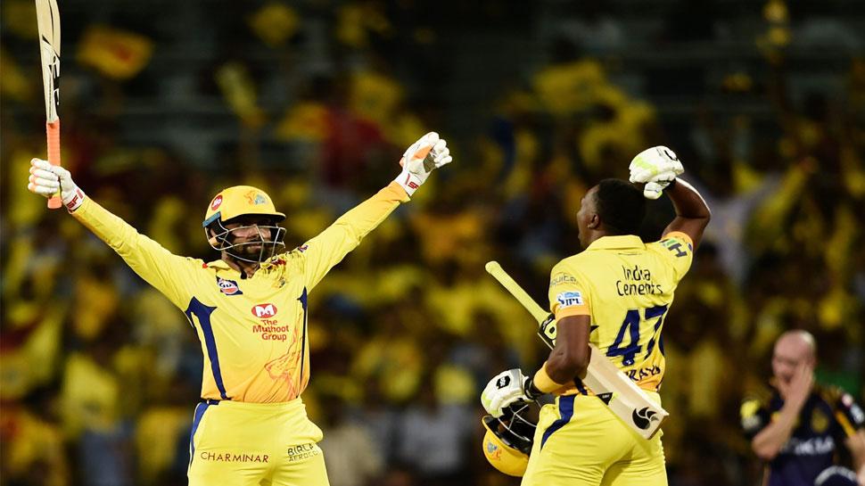IPL 2018 : सैम बिलिंग्स के तूफानी पारी के आगे कोलकाता ढेर, चेन्नई ने 5 विकेट से मैच जीता