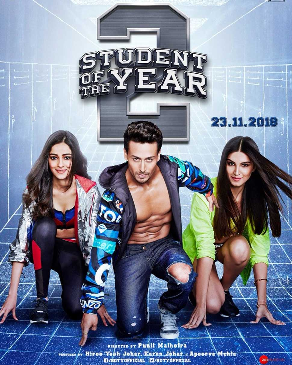 Tiger Shroff Ananya Panday and Tara Sutaria Cast of Student Of The Year 2