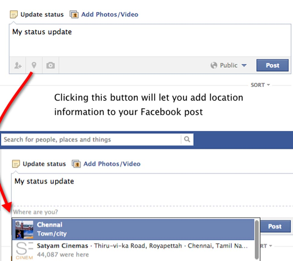 Do not tag you location on Facebook post