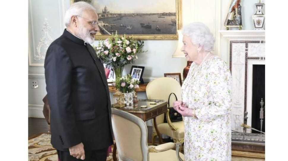PM Narendra Modi Meeting with Queen Elizabeth II