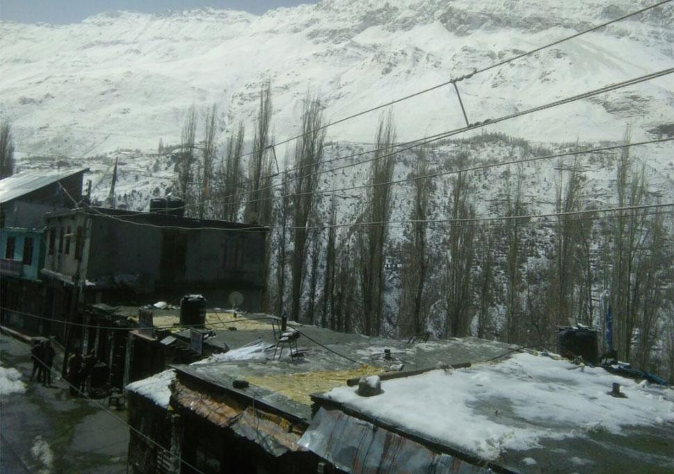 snowfall in Himachal Pradesh eylong in Lahaul-Spiti