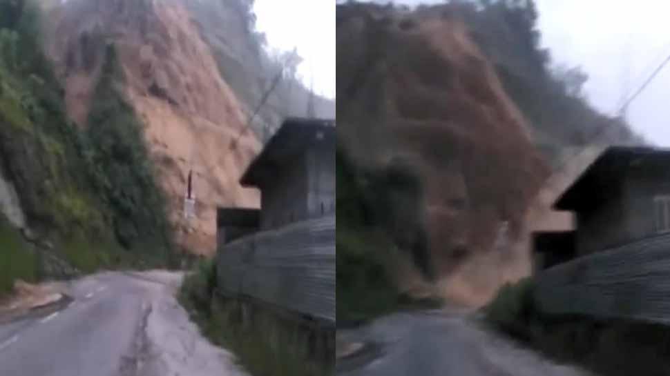 VIDEO: और देखते ही देखते विशाल पहाड़ मिट्टी के ढेर में बदल गया
