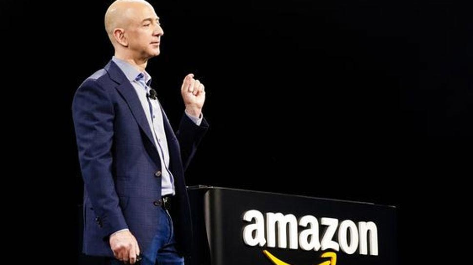 Richest man of Modern History Jeff Bezos works in Open space