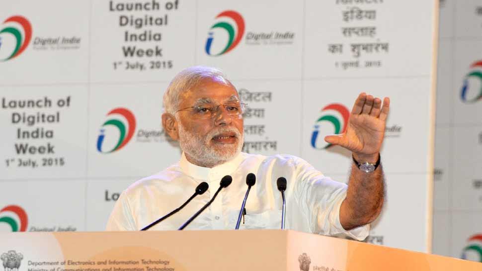 PM Narendra modi launched Digital India in 2015