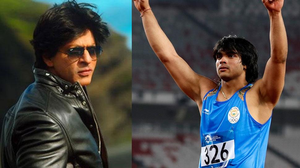 Asian Games 2018 : गोल्ड मेडलिस्ट नीरज चोपड़ा से एक विदेशी ने कहा- 'तुम तो शाहरुख जैसे हैंडसम हो'