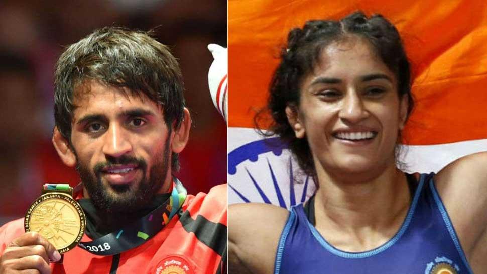 Asian Games: राजीव गांधी खेलरत्न पुरस्कार की दौड़ में पहलवान बजरंग और विनेश फोगाट