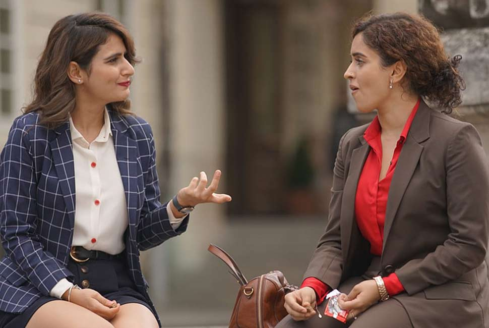 Fatima Sana Shaikh and Sanya Malhotra Dance in Europe
