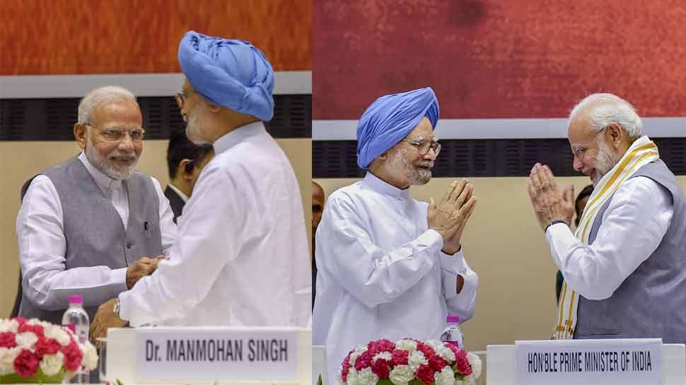 जब मंच पर PM मोदी और EX पीएम मनमोहन सिंह का हुआ सामना, जानें फिर क्या हुआ?