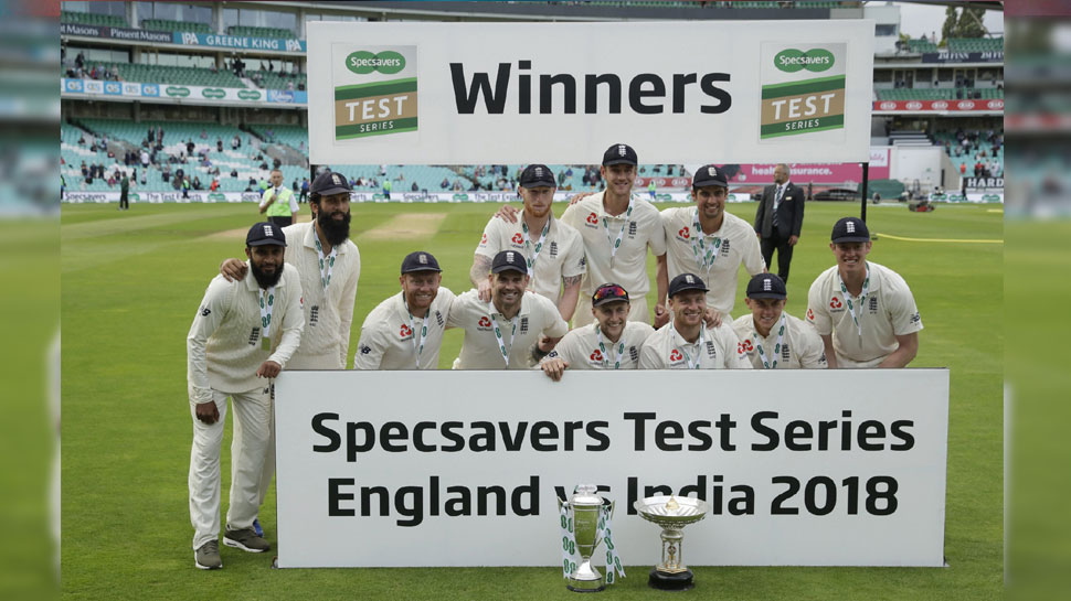 England won the series