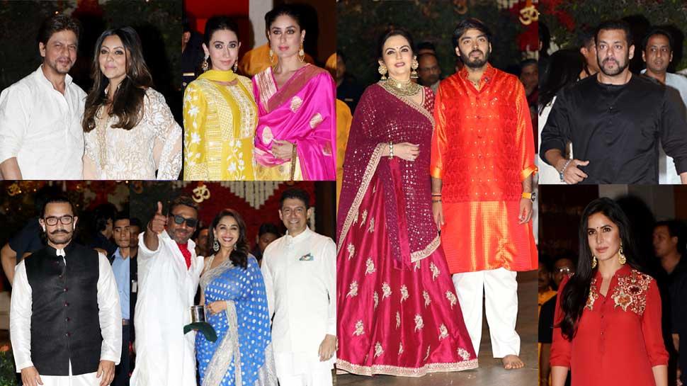 'बच्चन' हो या 'खान', मुकेश अंबानी के गणेशोत्सव में सितारों ने सजधज कर लगाई हाजिरी