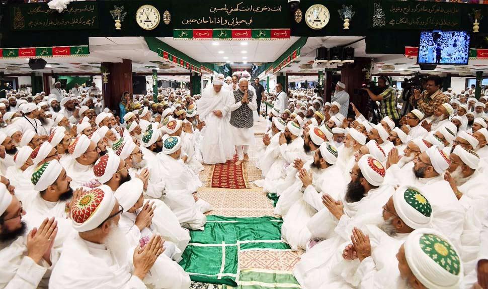 Photos of PM Modi from saifee nagar mosque