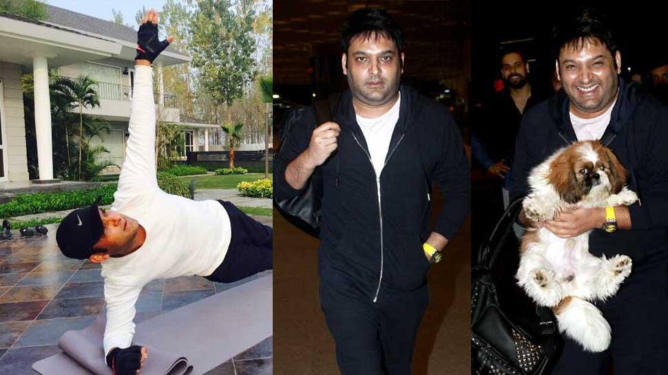 मोटापे की मार झेल रहे कपिल शर्मा अब Fit होने के लिए यूं ले रहे हैं Yoga का सहारा
