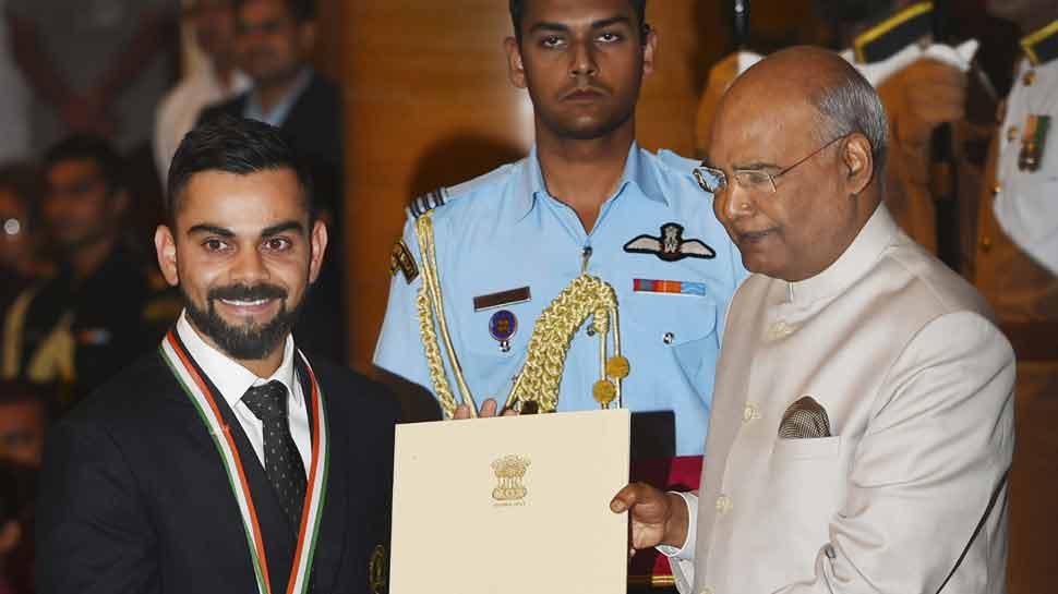 विराट कोहली बने देश के 35वें 'खेल रत्न', यह अवॉर्ड जीतने वाले तीसरे क्रिकेटर