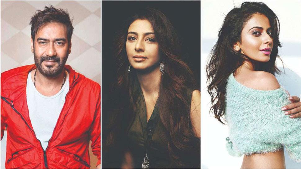 अजय देवगन, तबू और रकुल प्रीत सिंह कह रहे हैं 'दे दे प्यार दे'