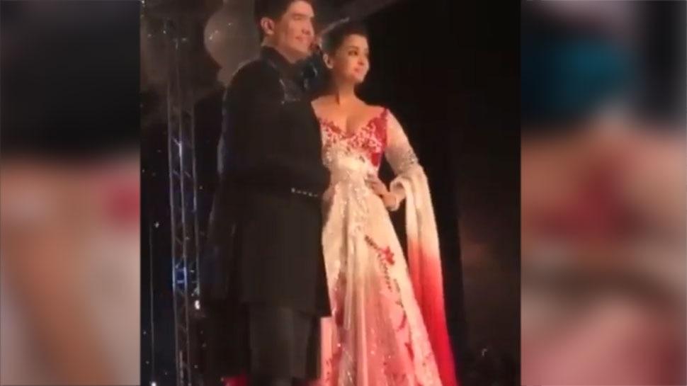 Aishwarya With Manish Malhotra