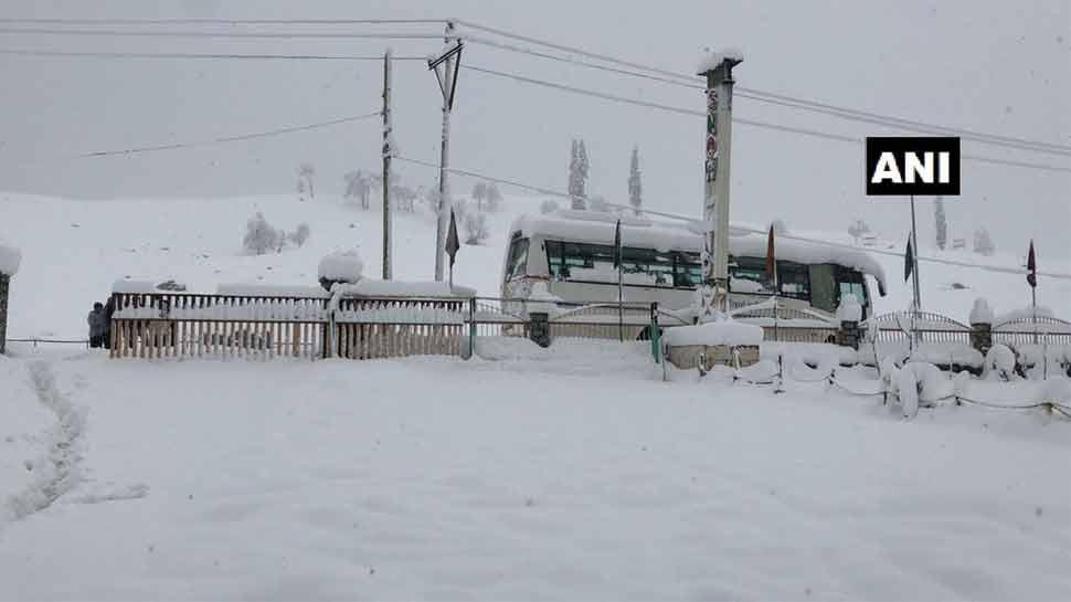 snowfall in sonmarg