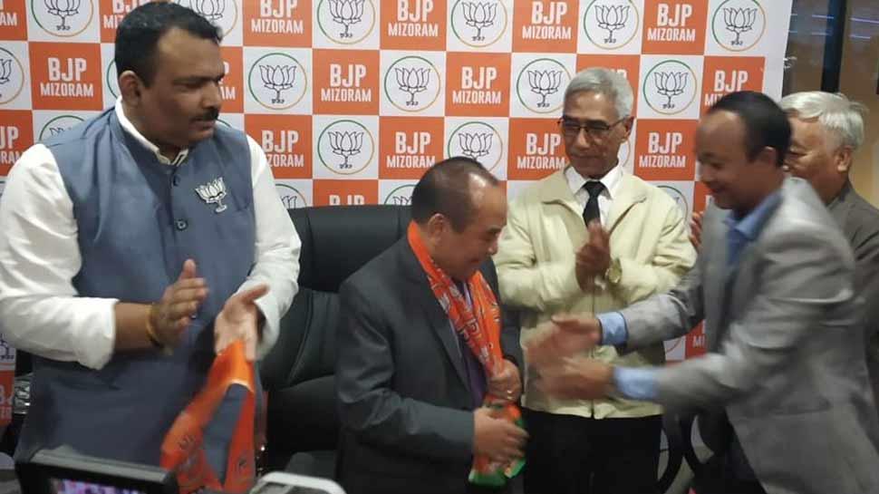 चुनाव से पहले मिजोरम में भी कांग्रेस के किले में दरार, विधानसभा स्पीकर ने थामा BJP का दामन