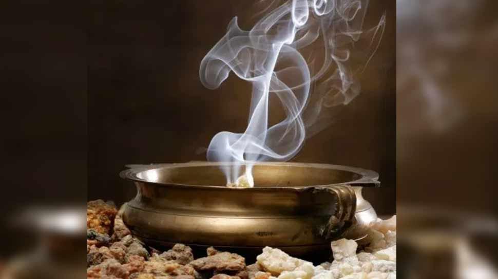 Smoke by burning herbs
