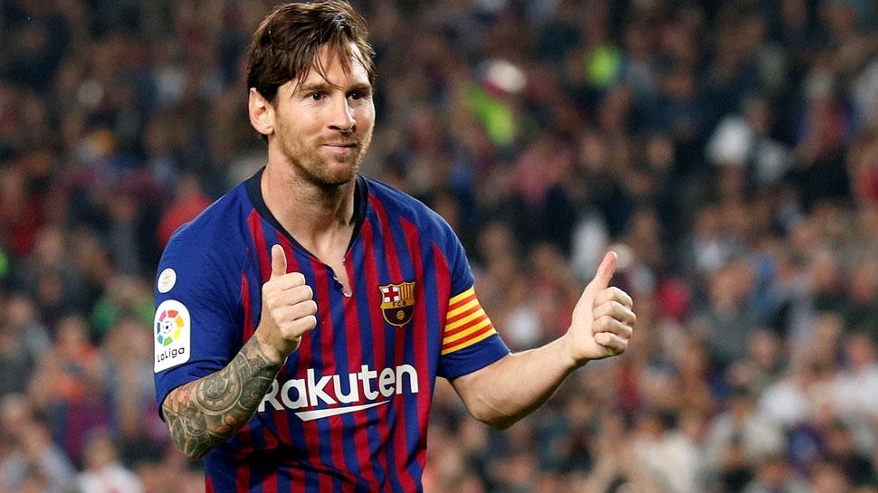 बार्सिलोना के मेसी को मिला स्पेनिश लीग के टॉप स्कोरर का अवॉर्ड