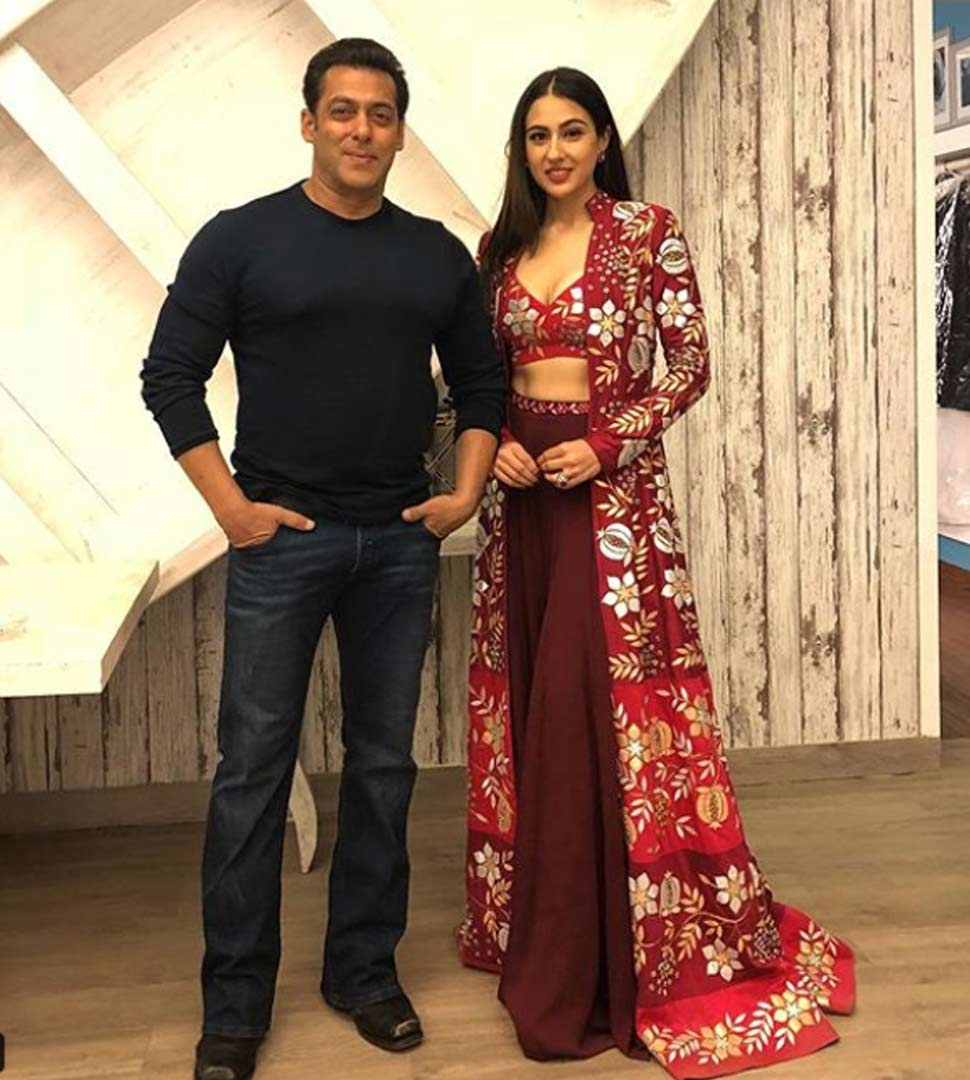 salman khan with sara ali khan