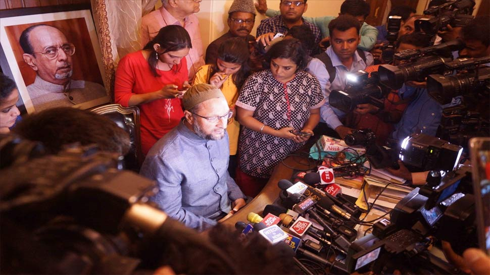 ओवैसी का दावा, 'कांग्रेस में मोदी को रोकने की क्षमता नहीं'
