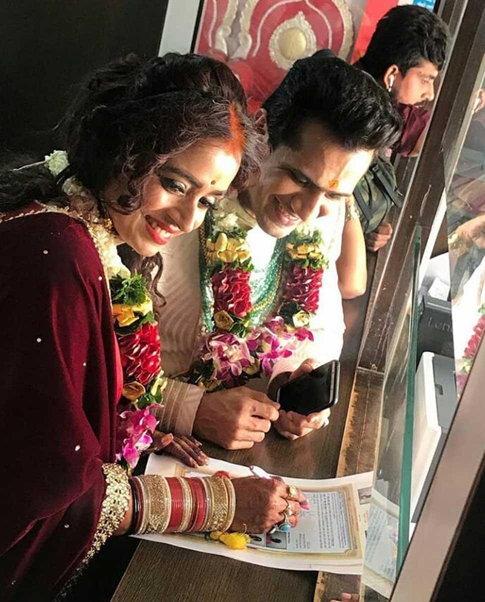 Yeh rishta kya kehlata hai Actress Shivangi Joshi attend parul chauhan marriage with chirag thakkar