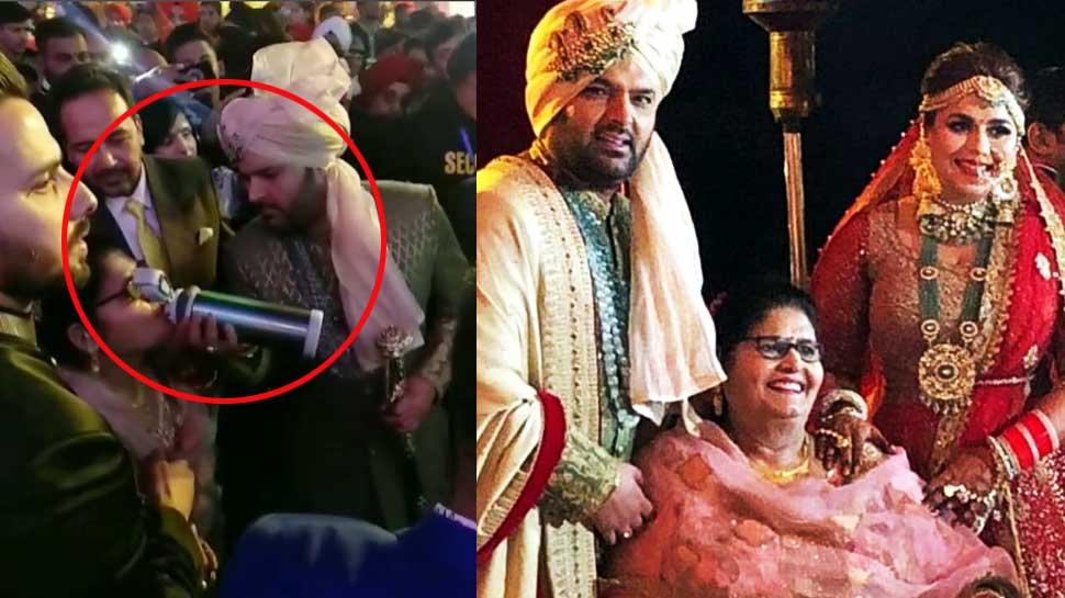 Video: कपिल शर्मा ने भीड़ में भी समझ ली मां की प्यास, हाथों से पिलाया पानी